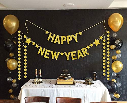 Sayala 2019 Neujahr Geburtstag Dekoration,2 In 1 Set -