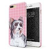 Glitbit Funda para iPhone 7 Plus / 8 Plus Case Cute Yorkshire Terrier...