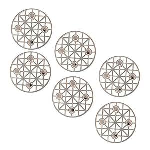 Excelsa 6 Presselli Salvagusto, Plastica, Bianco, 50 mm