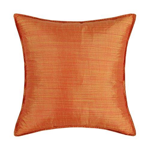 Euphoria Calitime Kissenbezüge Kissen Schalen Leichte Gefärbt Streifen Verschiedene Farben - Orange, 45 X 45cm (- Orange-streifen Leichte)
