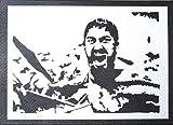 300 Roi Leonidas Affiche Handmade Graffiti Street Art - Artwork