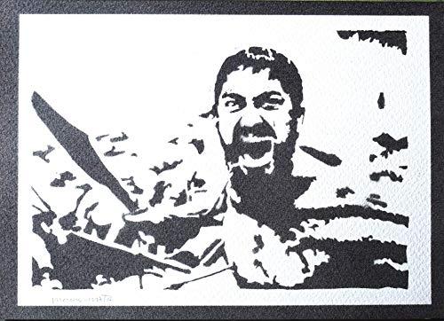 300 Pop-art (300 König Leonidas Poster Plakat Handmade Graffiti Street Art - Artwork)