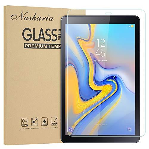 Nasharia Galaxy Tab A 10.5 Schutzfolie, Panzerglasfolie für Samsung SM-T590/T595, 2.5D, 9H Härte, Tempered Glas Folie Panzerglas Displayschutz Folie für Samsung Galaxy Tab A 10.1 2018 T590/T595 (Galaxy Tab 2 Display-schutzfolie)