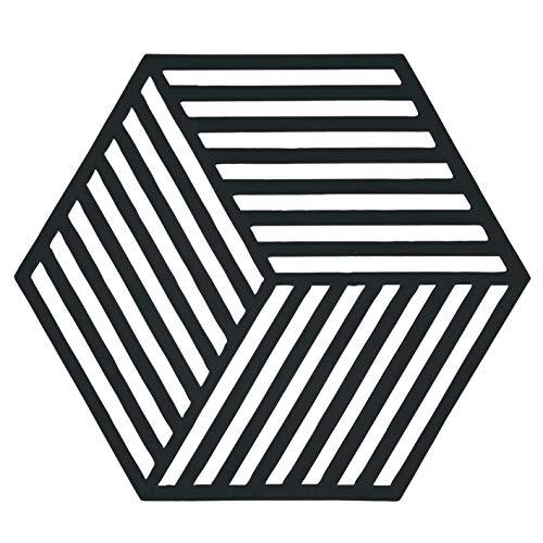 Zone Denmark Hexagon Topfuntersetzer/Untersetzer für Töpfe, Silikon, 16 x 14 cm, schwarz