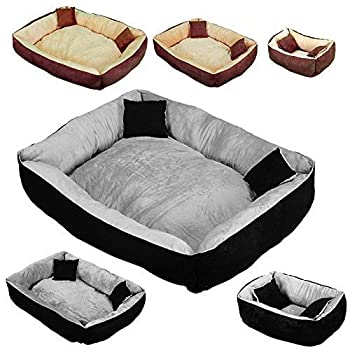 Beauty Pet ® Panier, lit avec coussin pour chien et chat - 3 tailles, 2 coloris - Norme CE