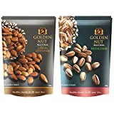 #10: Golden Nut Roasted Almonds & Pistachios Lightly Salted Combo (200g Each), 400Gram