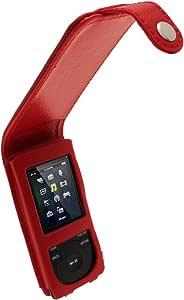 Igadgitz U2090 Echt Leder Flip Schutzhülle Kompatibel Mit Sony Walkman Nwz E473