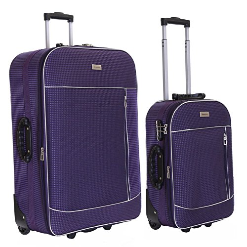 Slimbridge Rennes juego de 2 maletas extensibles, Púrpura