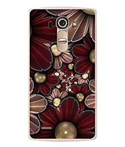 PrintVisa Designer Back Case Cover for LG G4 :: LG G4 Dual LTE :: LG G4 H818P H818N :: LG G4 H815 H815TR H815T H815P H812 H810 H811 LS991 VS986 US991 (Flower like pearls attractive look)