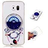 Samsung Galaxy S6 Case Cover MUTOUREN TPU Silicone phone cover Shock-Absorption anti-scratch Liquid Cover Stylish 3D Creative Red Dreamcatcher Design Quicksand Glitter Clear Crystal Gel Rubber Bumper Protective Ultra-Thin non-slip Premium TPU case cover-quicksand dreamcatcher 08