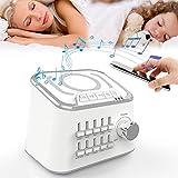 SDSPKX Multifunzione Macchina del Rumore Bianco Bluetooth White Noise Machine Caricabatterie Wireless Mobile per La Musica Sleep Machine, per Bambino Adulti Seniors Asleep Rapidamente