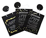 Chalkboard Birthday Gift Bags - Set of 3 Assorted Designs