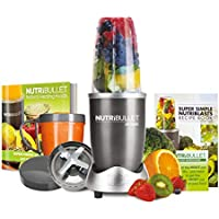 NutriBullet 600 Series 8 Piece Set, Graphite and Recipe Book Bundle