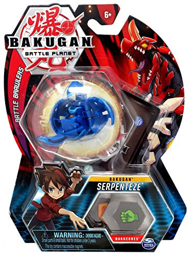 BAKUGAN, Serpenteze, 2-inch Tall Collectible Transforming Creature, for Ages 6 and Up