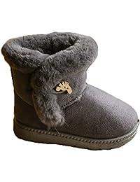 Hibote Cabritos de Las Muchachas Zapatos de Invierno, Cómodo Piel de Imitación de Algodón Linning Botas Regalo de Navidad Informal Arranque EN Caliente de Moda