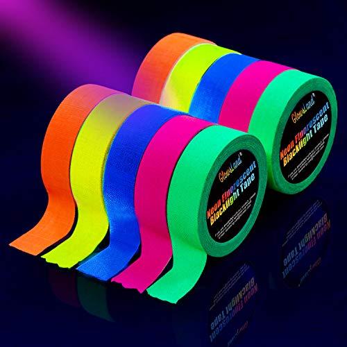 Neon Tape [10 Rollos] Cinta Adhesiva