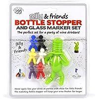 IGGI Billy Amici e tappo per bottiglia e vetro Marker Set, in silicone, colore: verde