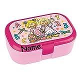 Lunchbox * SCHULANFANG MÄDCHEN plus WUNSCHNAME * für Kinder von Lutz Mauder // Einschulung Schule Brotdose mit Namensdruck // Vesperdose Brotzeitbox Brotzeit (mit Namen)