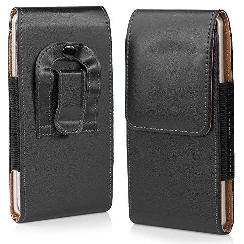 HSRpro Gürtel Tasche für Samsung S6 & S7 Edge in Schwarz - Hülle mit Gürtel Schlauch Gürteltasche - Sehr praktische Schutzhülle und hochwertig