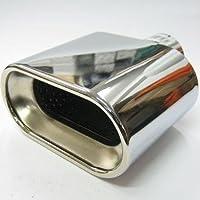 Boloromo 366A - Embellecedor de tubo de escape universal de doble tubo, de acero inoxidable, diámetro de 43–57mm, cromado