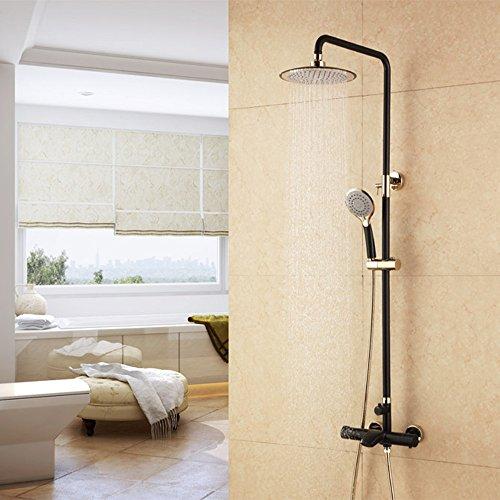 qewr Yi Yi Alemania gran negro cobre baño grifo de la ducha...
