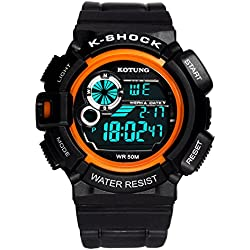 Mens waterproof digital watches/Multifunctional outdoor sports watches/Casual fashion watches-A