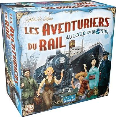 Jouetprive-Jeu de société les Aventuriers du Rails autour du monde