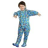 Tuta impermeabile bambino impermeabile con cappuccio per unisex bambini e bambine Blu/S