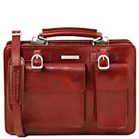 Tuscany Leather Tania Leather Lady Handbag - Large Size Red