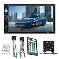 ‏‪JKoYu Car Stereo and Car Accessories 7010B Car Radio Bluetooth 7 Inch HD Stereo USB MP5 Player with Rearview Camera - with 8-LED Rear Camera‬‏