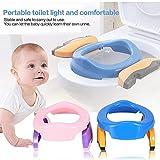 Cozywind Faltbare Toilettensitze Reise WC Sitz,Töpfchentrainer,Baby Reise Töpfchen Set Tragbarer Faltbarer Potette 2 in 1 Potty Trainer für Kinder (Rosa)