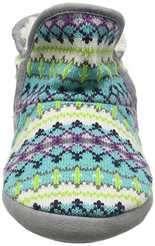 Fairisle Finiture Multicolore Chaussons 10401 Foam Femme Con Memory In Bootie Fresco combo E Microfibra Dearfoams AC4dqq