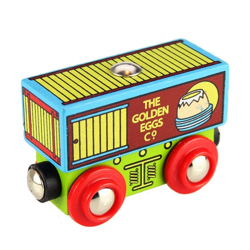 Bigjigs Rail Wagon Golden Egg Company 0691621094303