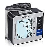 JUMPER Blutdruckmessgerät Handgelenk Vollautomatische Professionelle Blutdruck-und Pulsmessung, Großes LCD Display mit Digitale Hintergrundbeleuchtung, 90 Speicherkapazität, Silber