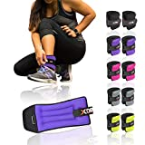 Xn8 Sports Neoprene Ankle Weights Black Pink Adjustable Resistant Leg Wrist Strap Running Cross Fitness Gym Training Exercise
