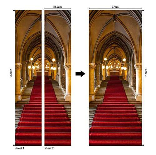 Porta del palazzo di stile europeo architettura foto murales carta da parati soggiorno adesivo pvc impermeabile per decorazioni per la casa 3d 77 * 200 cm