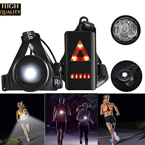 SmartHitech Lampada da Corsa Notturna Allaperto - 3 Modalità - Luce Il petto a LED Impermeabile per Corridori - Lampada Spia di Sicurezza con Batteria Ricaricabile per Campeggio