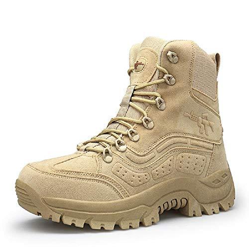 CharmShan Magnum Boots,Kampfstiefel Einsatzstiefel Bequeme und tragbare Wanderschuhe Outdoor wandern und schnell trocknen,Beige-41(UK7.5) -