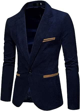 Enipate Helisopus Mens Corduroy Blazer Jackets Slim Fit Vintage Formal Suits Coat