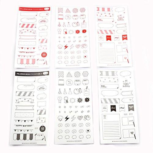 hellohelio Papier Pack Memo Aufkleber für Fujifilm Instax Mini Film und Scrapbook Album, meine Botschaft
