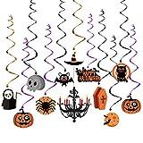 Unomor Halloween Deko Halloween Spinne Deko Spinnennetz Dekoration (Halloween hängen wirbelt)