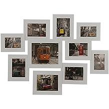 DonRegaloWeb - Portafotos múltiple para 10fotografias de madera 3 de 10x15cm, 5 de 13x18cm,