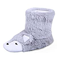 Fox Inspired Thicken Fluffy Sock Slippers Ankle Bootie Anti-Skid Winter Thermal Warm House Slippers Boot Footwear Shoes for Birthday