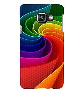 colourful elliptical pattern 3D Hard Polycarbonate Designer Back Case Cover for Samsung Galaxy A3 (2016) :: Samsung Galaxy A3 A310F (2016) A310M A310FD A310Y