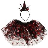F Fityle 1 Pieza Diadema con Falda de Princesa para Haloween para Hombres como Regalo de Día de Niños - Rojo