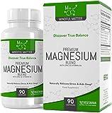 Fórmula de Magnesio 330 mg de Magnesio Activo por Dosis (90 Cápsulas Vegetarianas) | 3 Tipos Diferentes de Magnesio Altamente Biodisponible - GLICINATO, TAURATO & MALATO + Vitamina B6 y Zinc