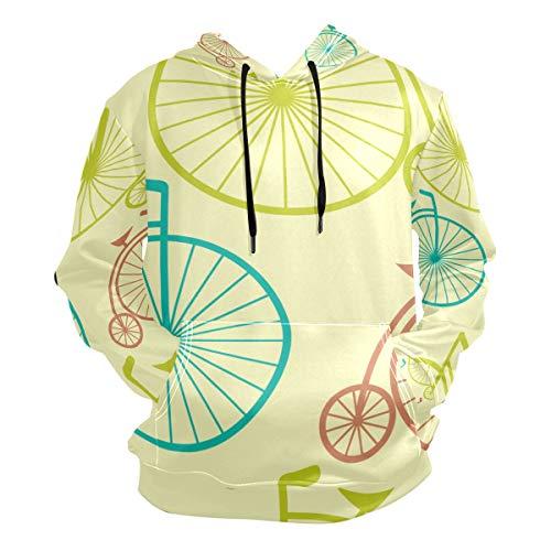 DEZIRO Big Wheel Bike Herren Herbst Winter Kapuzenpullover Langarm Fleece Gr. X-Large, 1