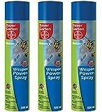 3 x 500 ml Bayer Blattanex Wespen-Powerspray, 6m Strahl