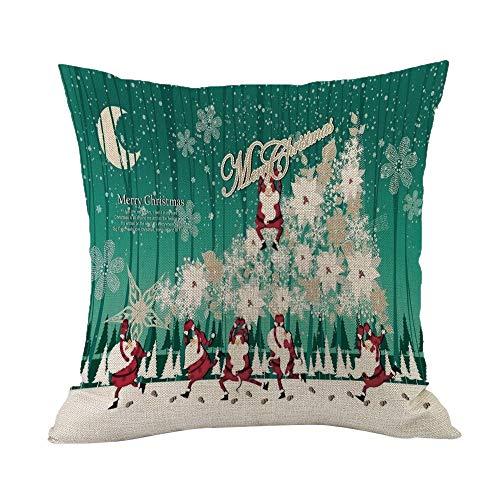 Federe cuscini,feixiang federa cuscino federe 45x45 cm cuscini per divani cuscino copricuscini divano caso di natale decorazioni per la casa cuscino copertina
