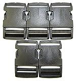 Steckschnalle Steckschließer gerade schwarz 30 mm versch. Mengen (5 Stück)